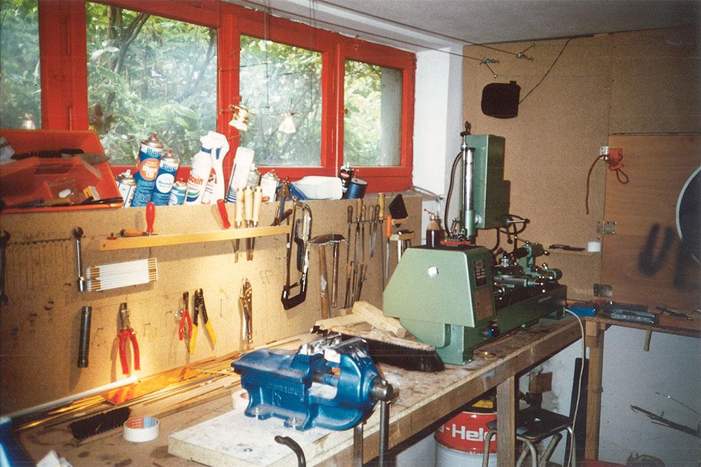 1988 - Steht nicht in Kalifornien und produzierte kein Obst - die Garage in der die ersten Nimbus Leuchten entstanden